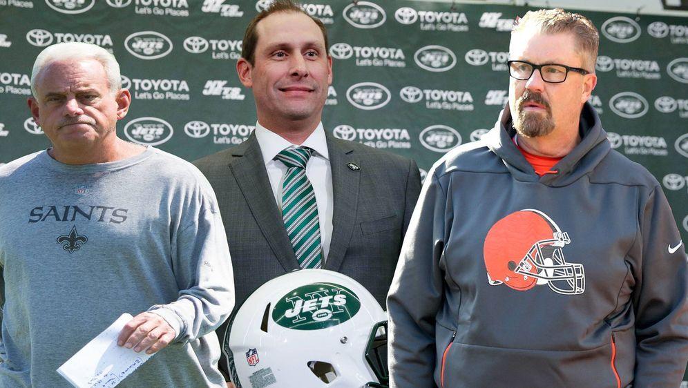 Drei Gesichter des Coaching Staff der New York Jets: Head Coach Adam Gase (M... - Bildquelle: imago