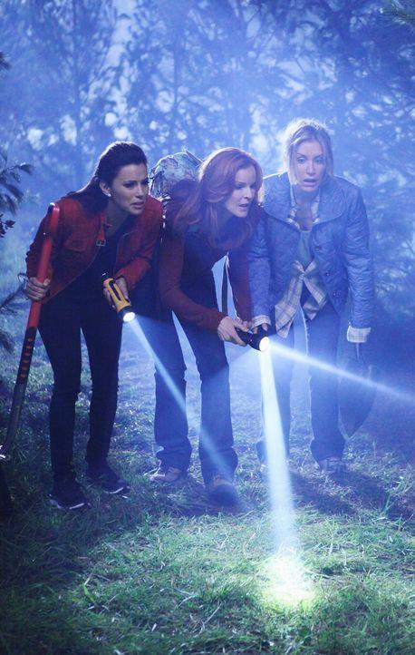 Gabrielle (Eva Longoria, l.), Bree (Marcia Cross, M.) und Lynette (Felicity Huffman, r.) müssen noch einmal mit Schaufeln in den Wald. Doch sie sind... - Bildquelle: ABC Studios