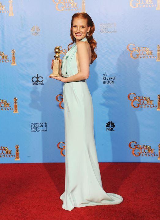 Jessica Chastain bei den Golden Globes 2013 - Bildquelle: AFP