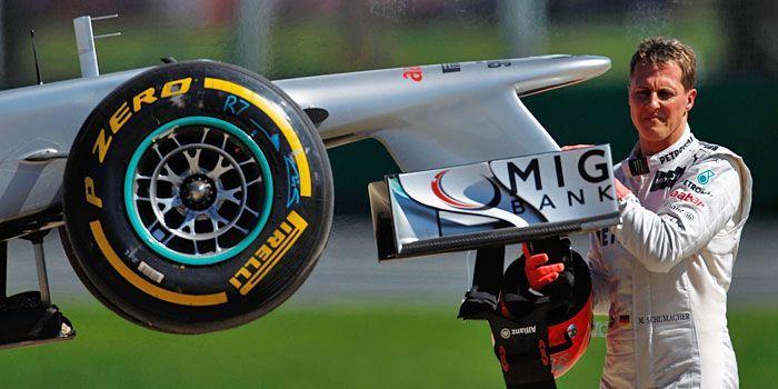 Michael Schumacher startete in Melbourne stark, doch sein Mercedes hielt nicht - Bildquelle: Getty