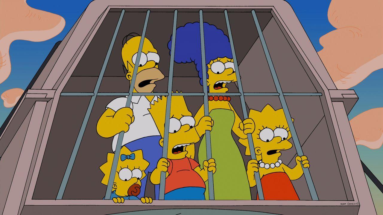 Ein harmloser Ausflug in einen Vergnügungspark wird zum Albtraum: (v.l.n.r.) Maggie, Homer, Bart, Marge und Lisa ... - Bildquelle: 2014 Twentieth Century Fox Film Corporation. All rights reserved.