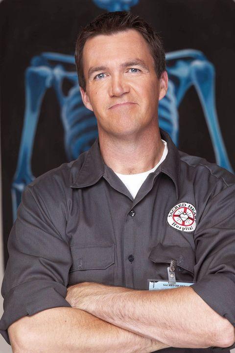 (2. Staffel) - Der Hausmeister (Neil Flynn) des Sacred Heart Hospitals macht insbesondere J.D. das Leben schwer ... - Bildquelle: Touchstone Television