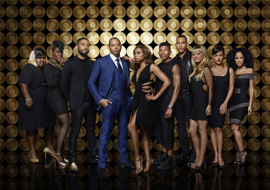 (2. Staffel) - Empire: (v.l.n.r.) Becky (Gaboury Sidibe), Porsha (Ta'Rhonda Jones), Jamal (Jussie Smollett), Lucious (Terrence Howard), Cookie (Tara... - Bildquelle: James Dimmock 2015-2016 Fox and its related entities.  All rights reserved.