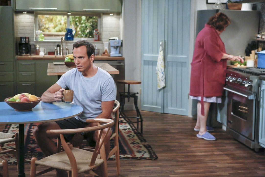 Nathan (Will Arnett, l.) hat eine grandiose Idee, um seine Eltern (Margo Martindale, r.) von der geplanten Scheidung abzuhalten ... - Bildquelle: 2013 CBS Broadcasting, Inc. All Rights Reserved.