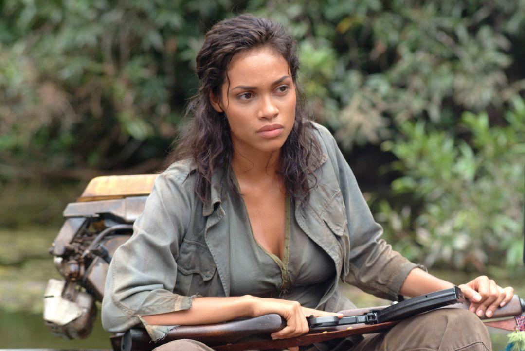 Ist ebenfalls hinter dem Schatz her: Rebellenführerin Mariana (Rosario Dawson) ... - Bildquelle: 2004 Sony Pictures Television International. All Rights Reserved.