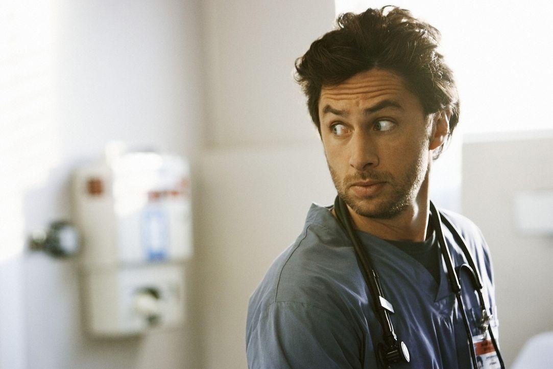 Fühlt sich von Dr. Maddox ständig beobachtet: J.D. (Zach Braff) ... - Bildquelle: Touchstone Television