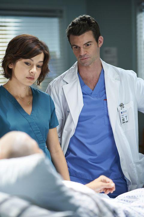 Ihre Patienten brauchen häufig mehr, als nur medizinische Hilfe: Joel (Daniel Gillies, r.) und Maggie (Julia Taylor Ross, l.) ... - Bildquelle: 2013  Hope Zee Two Inc.