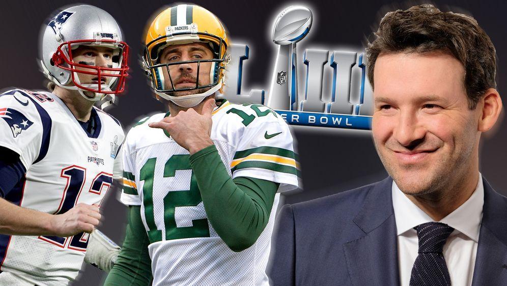 Tony Romo sieht Aaron Rodgers und die Packers im SBLIII - Tom Brady und die ... - Bildquelle: Getty Images