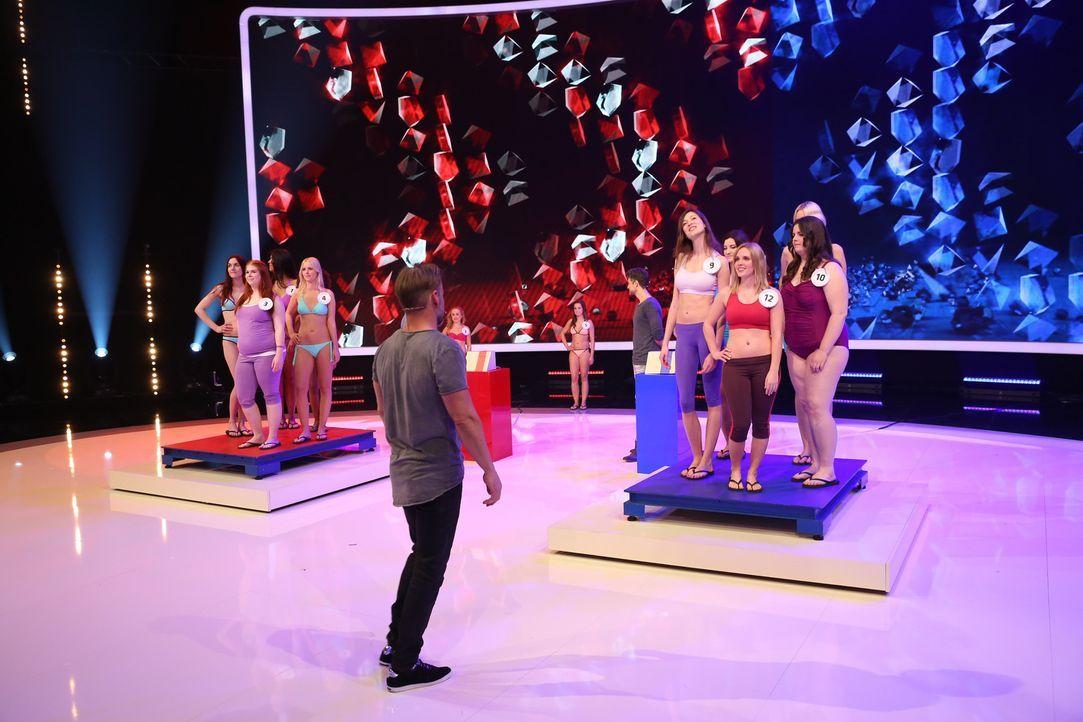 """In """"Ran an den Mann"""" werden fünf Männer von ihren Frauen ins Duell geschickt. In einer gigantischen Arena müssen sich die Kerle gegeneinander behaup... - Bildquelle: Guido Engels SAT.1"""