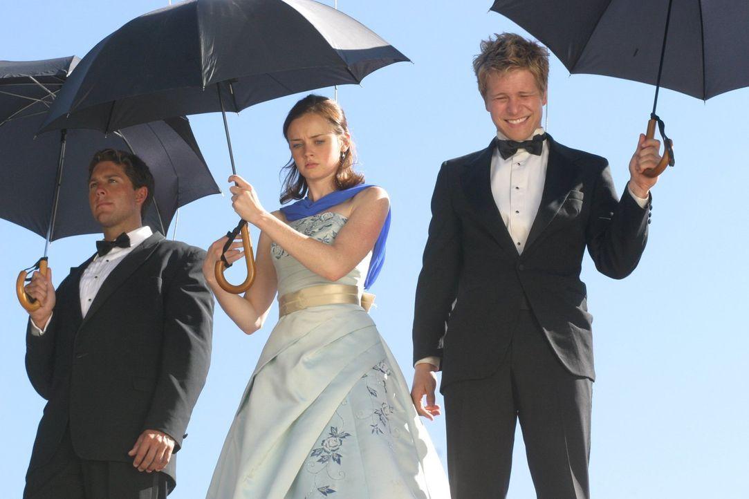 """Als Rory (Alexis Bledel, M.) beschließt für einen Artikel über die geheime Gruppe """"'Live And Death Brigade"""" zu recherchieren, hat sie nicht damit ge... - Bildquelle: 2004 Warner Bros."""