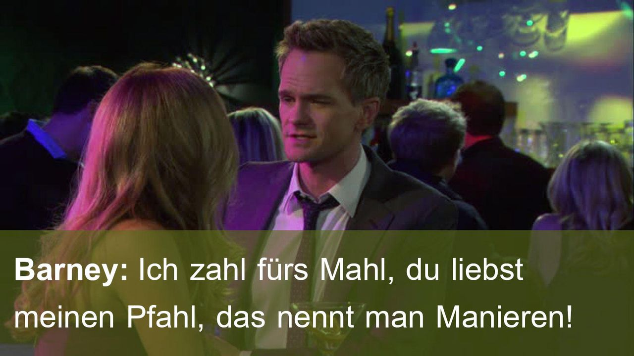 how-i-met-your-mother-Zitat-Folge-16-Barney-Manieren 1600 x 900 - Bildquelle: Fox