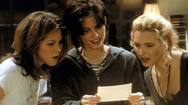 (v.l.n.r.) Rachel (Jennifer Aniston), Monica (Courteney Cox) und Phoebe (Lisa...