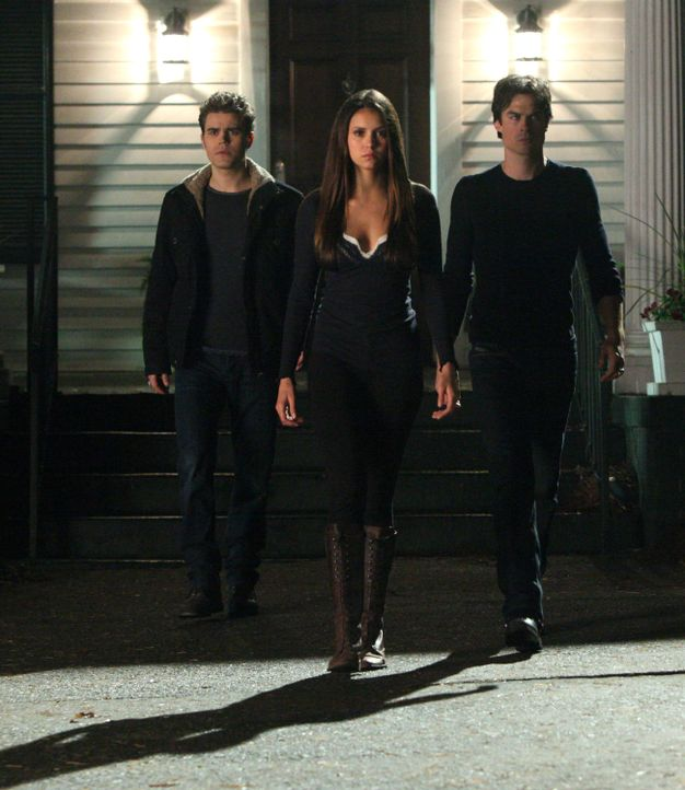 Stefan, Damon und Elena - Bildquelle: Warner Bros. Entertainment Inc.