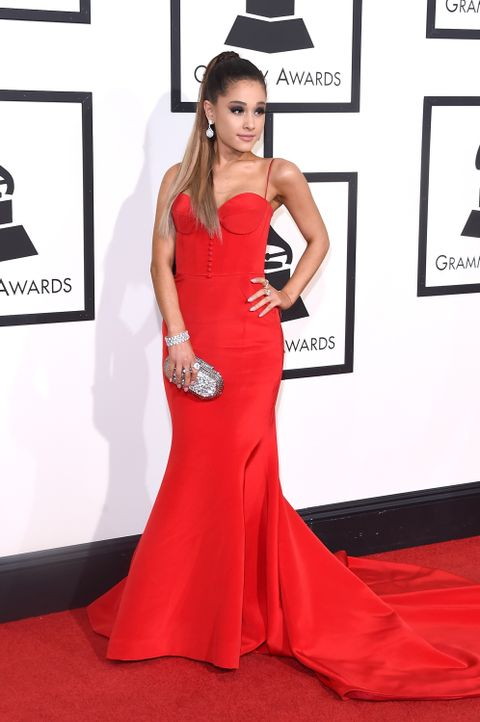 Grammys 2016: Ariana Grande - Bildquelle: Jason Merritt / GETTY IMAGES NORTH AMERICA / AFP