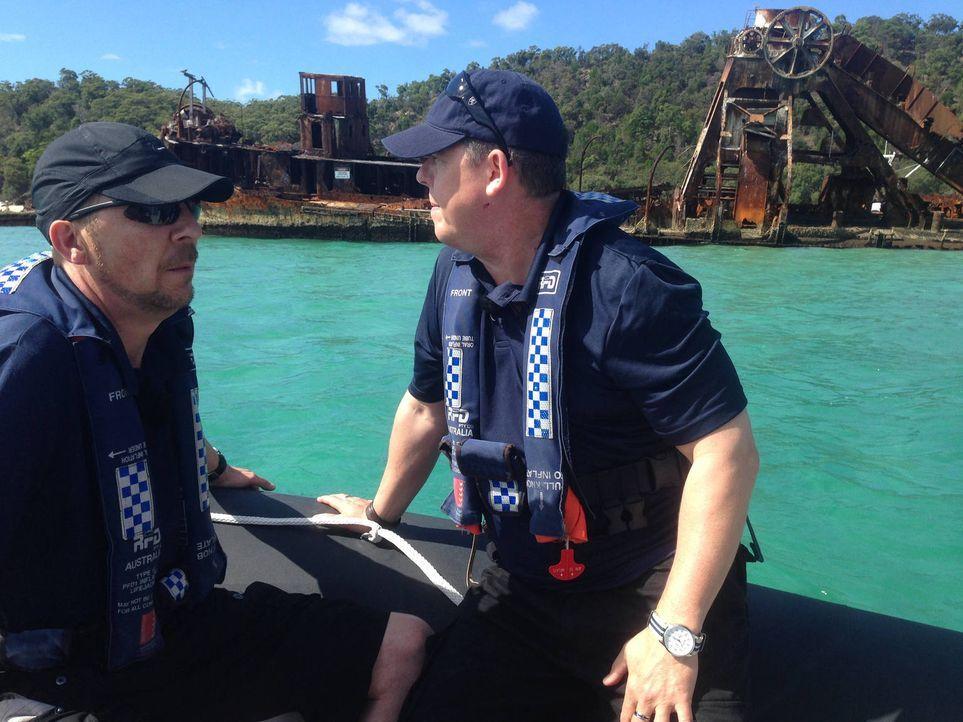 Zwischen Ozean und Outback entdecken Toto (r.) und Harry (l.) die pulsierende Metropole Brisbane, das Ballungszentrum an der Ostküste Australiens ... - Bildquelle: kabel eins