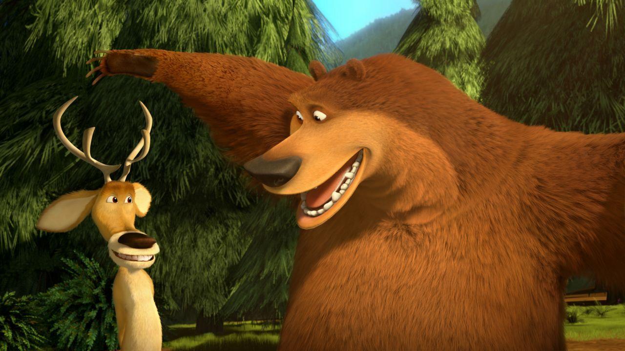Auf gute Freunde kann man nie verzichten: Als Boog (r.) im Zirkus landet, machen sich Elliot (l.) und seine Freunde auf den Weg, ihn wieder zu befre... - Bildquelle: 2010 Sony Pictures Animation Inc. All Rights Reserved.