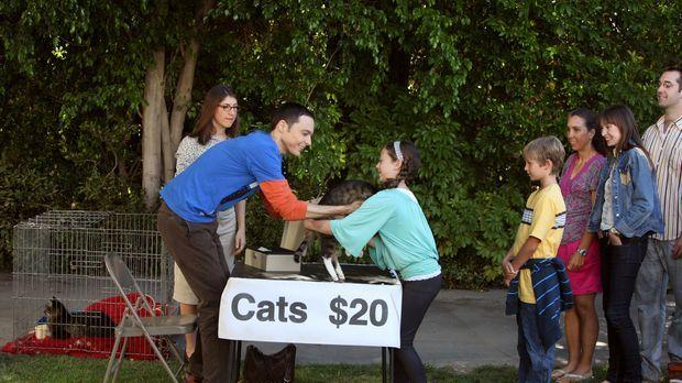 Nachdem sich die Katzen von Sheldon (Jim Parsons, 2.v.l.) schlagartig vermehr...