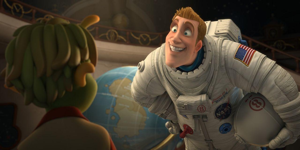 Astronaut Captain Charles Baker (r.) betritt als erstes Lebewesen den Planeten 51 - denkt er! Doch er muss feststellen, dass dem nicht so ist, denn... - Bildquelle: 2009 Columbia TriStar Marketing Group, Inc.  All Rights Reserved.