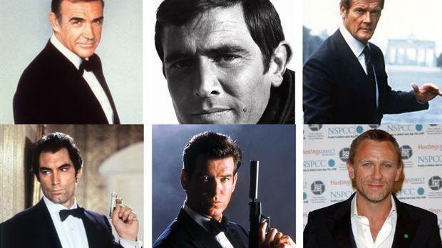 """Die bisherigen """"James Bond""""-Darsteller"""