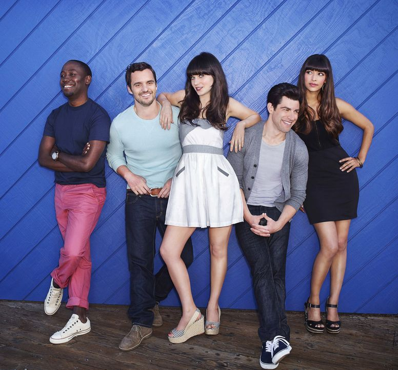 (2. Staffel) - Gehen gemeinsam durch Dick und Dünn (v.l.n.r.): Winston Bishop (Lamorne Morris), Nick Miller (Jake Johnson), Jessica Day (Zooey Desc... - Bildquelle: 2012-2013 Twentieth Century Fox Film Corporation. All rights reserved.