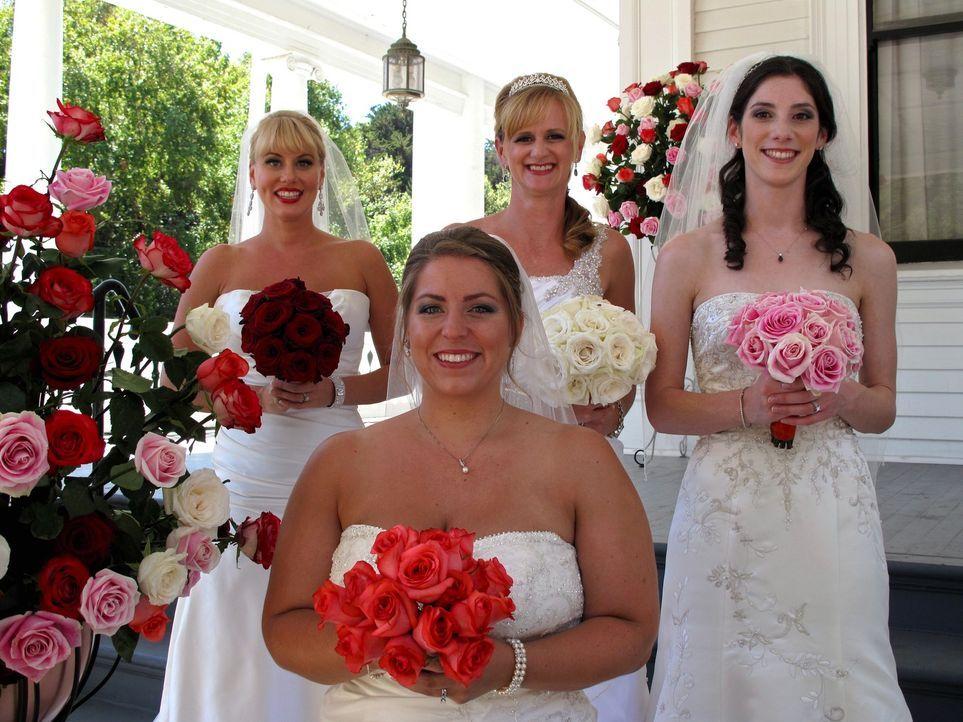 Jede der vier Bräute glaubt, die perfekte Hochzeit organisiert zu haben, doch wer wird auch die Konkurrenz davon überzeugen können: Julie (l.), Brit... - Bildquelle: Richard Vagg DCL