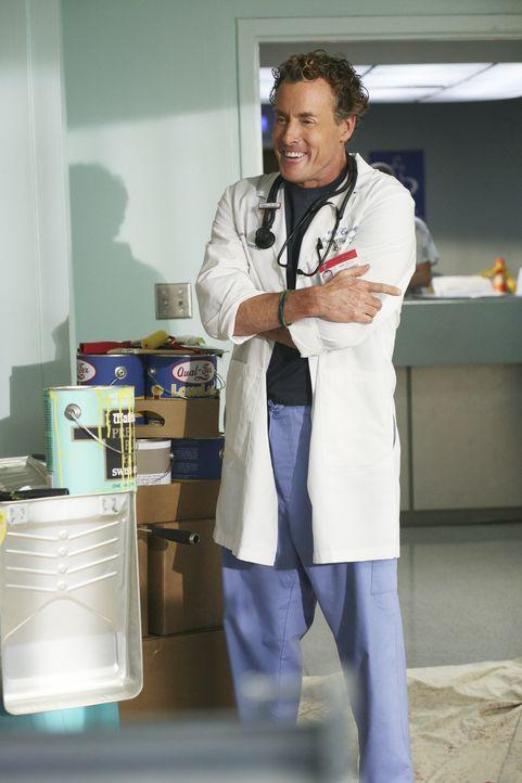 Dr. Cox (John C. McGinley) kommt sich vor wie der Fernseharzt Dr. House, als es an ihm ist, einige Rätsel zu lösen ... - Bildquelle: Touchstone Television