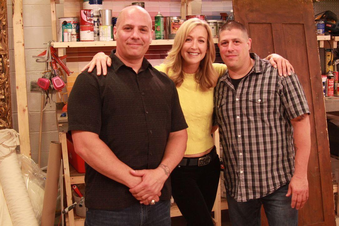 (v.l.n.r.) Mike; Lara Spencer; Tom - Bildquelle: 2014, HGTV/ Scripps Networks, LLC. All Rights Reserved.