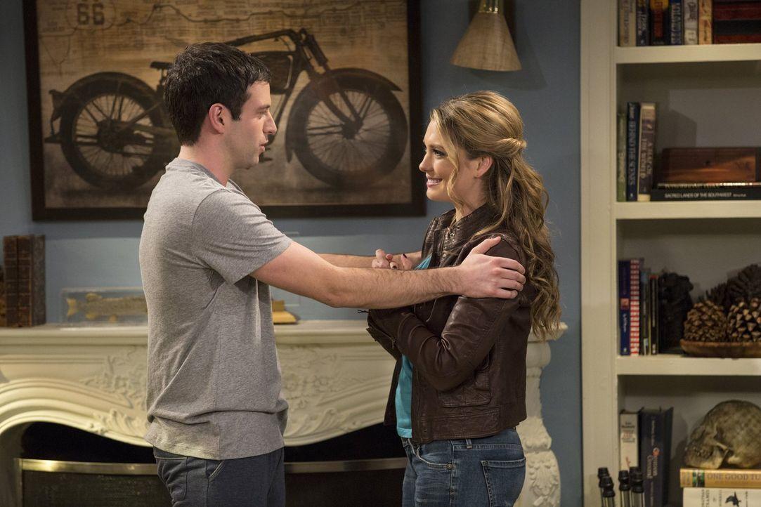 Sex oder kein Sex? Justin (Brent Morin, l.) weiß nicht, was er mit Nicki (Briga Heelan, r.) anstellen soll ... - Bildquelle: Warner Brothers