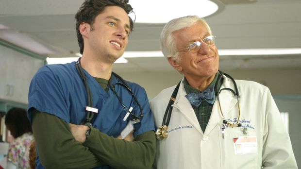 Als J.D. (Zach Braff, l.) die Gelegenheit bekommt, mit Dr. Townsend (Dick Van...