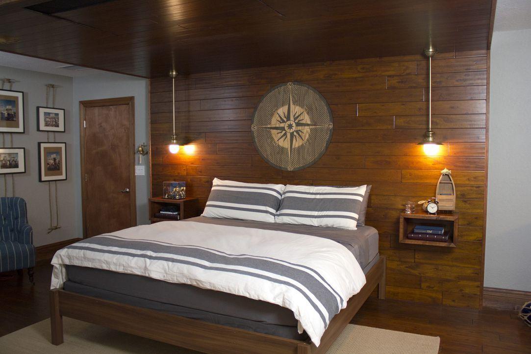Jason Cameron und sein Team haben grandiose Ideen für Billys neues Zimmer, in dem sich alles um Billys Lieblingshobby dreht, dem Fischen ... - Bildquelle: 2013, DIY Network/Scripps Networks, LLC.  All rights Reserved.