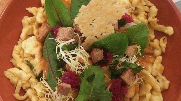 Kalbsgulasch mit Kräuterseitlingen