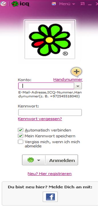 ICQ Anmeldung