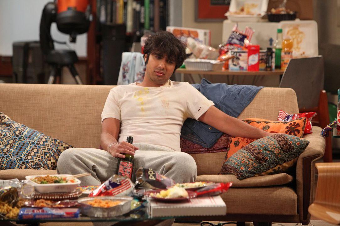 Nach einem missglücktem Date will Raj (Kunal Nayyar) seine Wohnung nie wieder verlassen ... - Bildquelle: Warner Bros. Television
