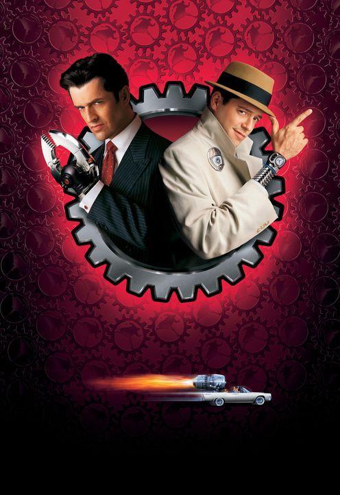 Inspektor Gadget - Artwork: John Brown (Matthew Broderick, r.) arbeitet als Nachtwächter in einem Labor, als der Industrielle Claw (Rupert Everett,... - Bildquelle: Buena Vista Pictures