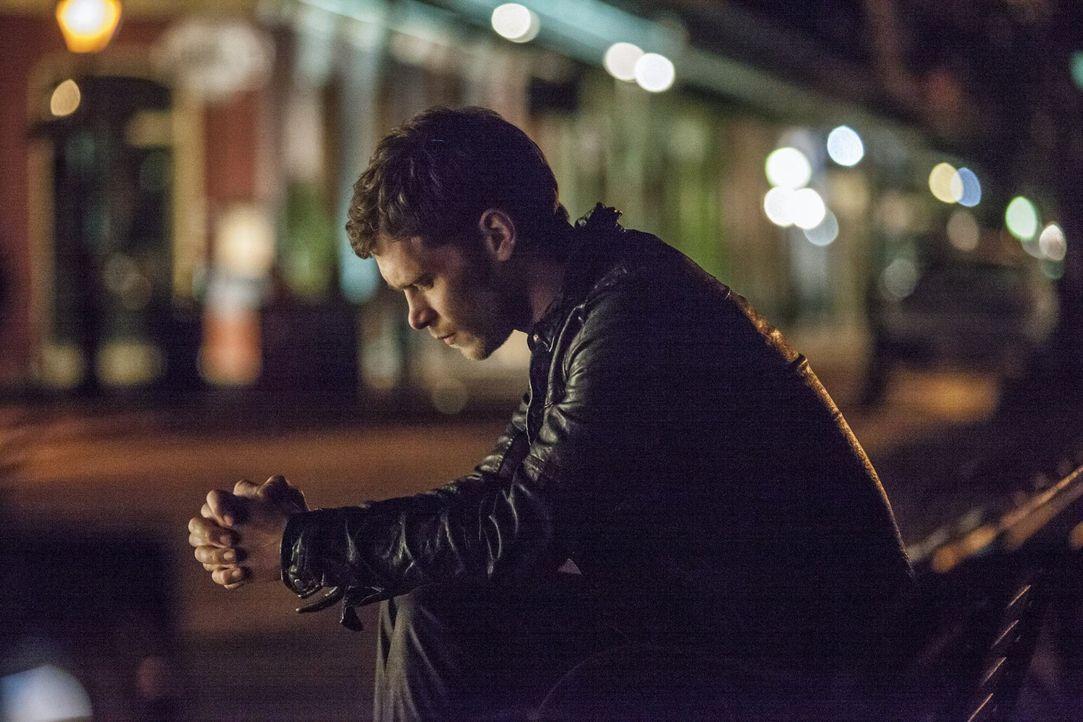 Klaus (Joseph Morgan) ist verzweifelt, die Stadt seiner Vorfahren befindet sich nun in den Händen seines ehemaligen Schützlings. Nun überlegt er... - Bildquelle: Warner Brothers
