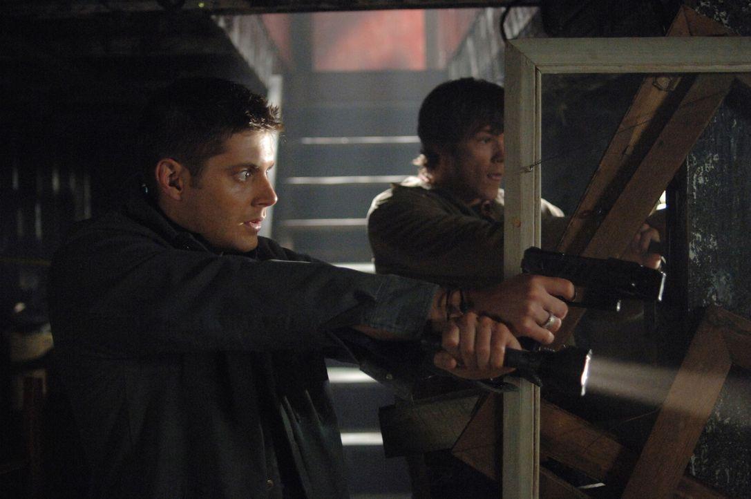 Müssen wieder gegen gefährliche Monster ankämpfen: Sam (Jared Padalecki, r.) und Dean (Jensen Ackles, l.) ... - Bildquelle: Warner Bros. Television
