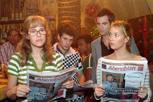 Verliebt in Berlin - Lisa (Alexandra Neldel, l.), Rokko (Manuel Cortez, 2.v.l...