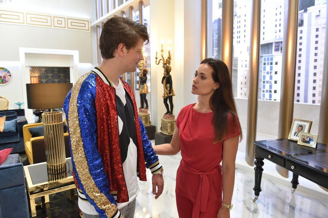 Ist Melissa (Sarah Maria Besgen, r.) mit ihrem Sohn Jascha (Anno Kaspar Friedrich von Heimburg, l.) zu nachlässig? - Bildquelle: Andre Kowalski SAT.1/André Kowalski
