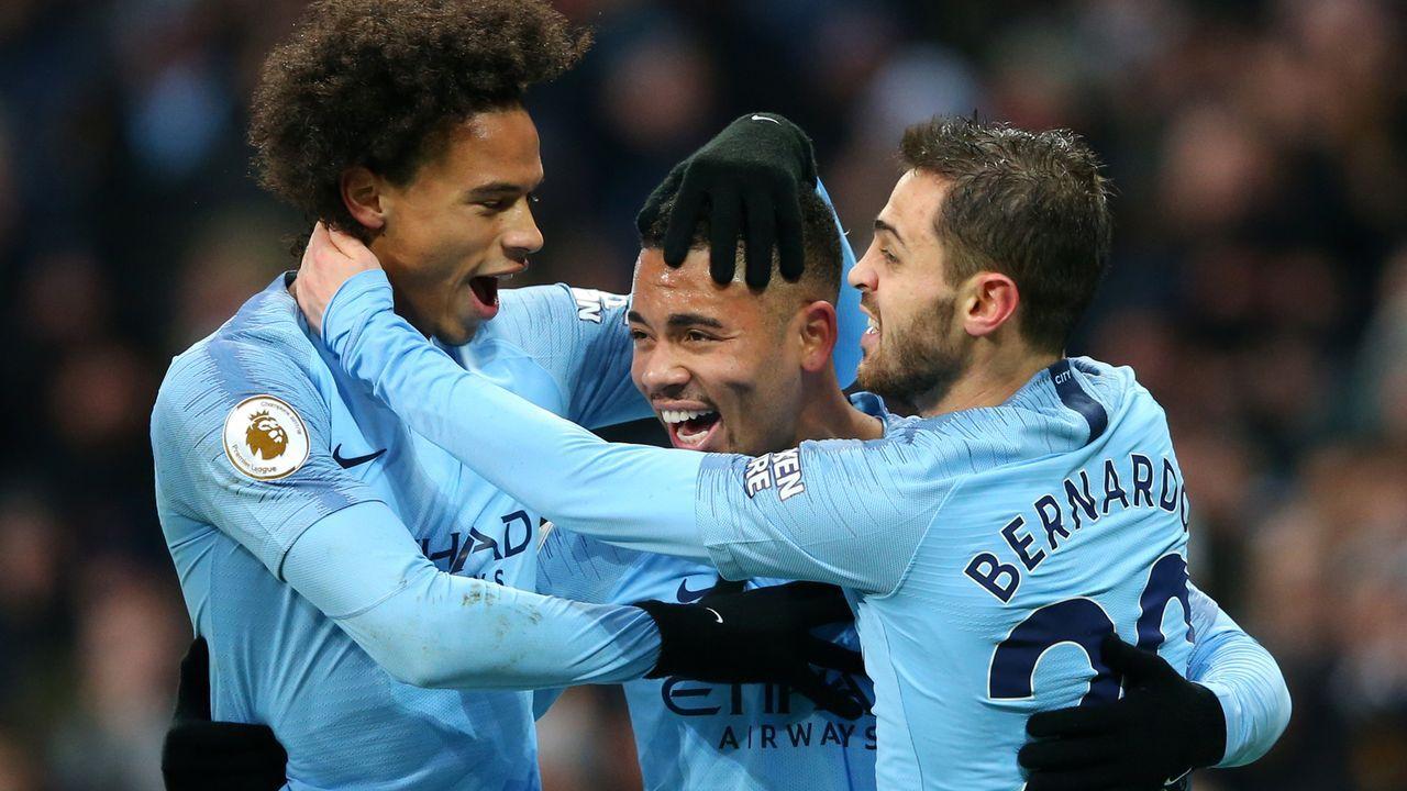 Platz 3: Manchester City (Premier League/England) - Bildquelle: 2018 Getty Images
