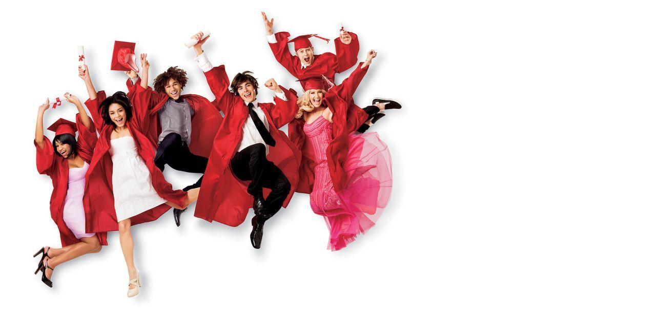 Die Clique (v.l.n.r.) Taylor (Monique Coleman), Gabriella (Vanessa Anne Hudgens), Chad (Corbin Bleu), Troy (Zac Efron), Ryan (Lucas Grabeel) und Sha... - Bildquelle: Disney Enterprises, Inc.  All rights reserved.