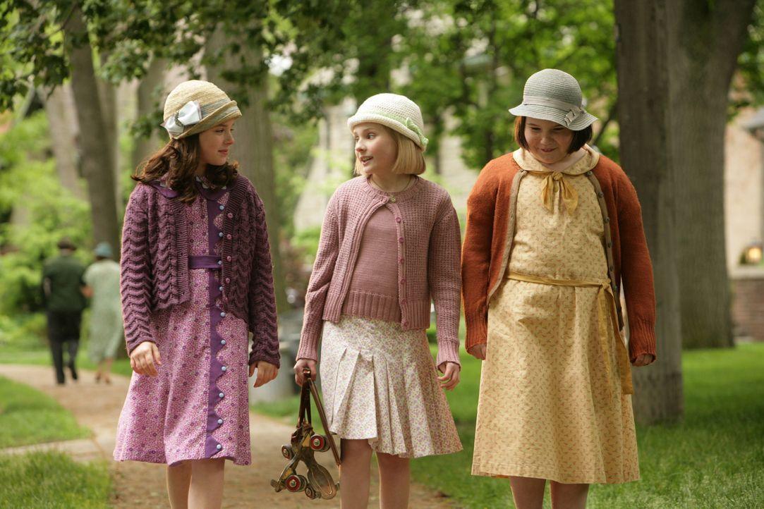 Machen sich auf, einen gemeinen Dieb unschädlich zu machen: (v.l.n.r.) Ruthie (Madison Davenport), Kitt (Abigail Breslin) und Frances (Brieanne Jans... - Bildquelle: Warner Brothers