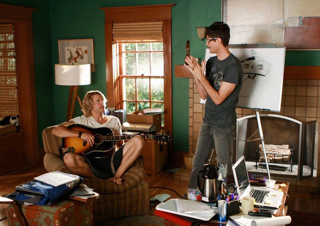 Studentenparty anstatt seriöser Geschäfte: Kyle DeWitt (Eric Christian Olsen, r.) und Ethan Travis (Will McCormack, l.) ... - Bildquelle: 2008 ABC INC.
