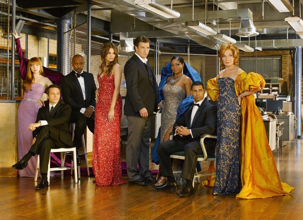 (3. Staffel) - (v.l.n.r.) Kevin Ryan (Seamus Dever), Alexis Castle (Molly C. Quinn), Roy Montgomery (Ruben Santiago-Hudson), Kate Beckett (Stana Kat... - Bildquelle: ABC Studios