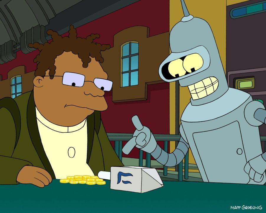 Feiern ganz besondere außerirdische Weihnachten: Bender (r.) und Hermes (l.) ... - Bildquelle: 2003 Twentieth Century Fox Film Corporation. All rights reserved.
