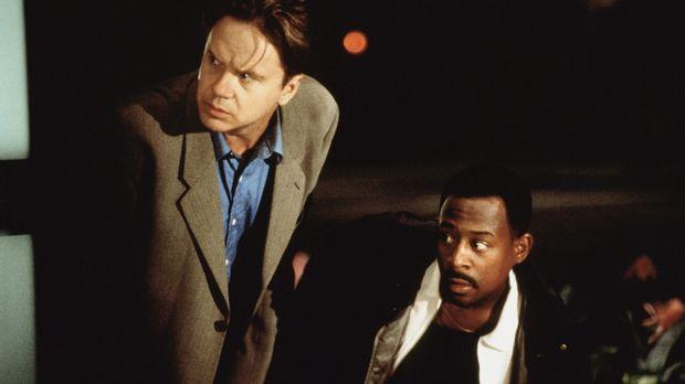 T. Paul (Martin Lawrence, r.) und Nick Beame (Tim Robbins, l.) wollen gemeins...