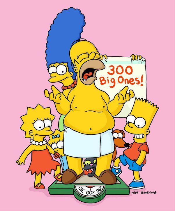 Homer und seine Familie treiben ihr Unwesen bereits seit 300 Folgen ... - Bildquelle: TWENTIETH CENTURY FOX FILM CORPORATION