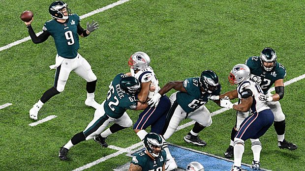 200+ Passing Yards beider QBs in erster Halbzeit des Super Bowls - Bildquelle: 2018 Getty Images