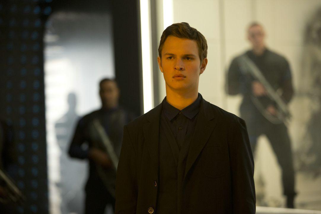 """Im Gegensatz zu seiner Schwester Tris (Shailene Woodley) entscheidet sich Caleb (Ansel Elgort) für die diktatorische Organisation """"Ken"""". - Bildquelle: 2014 Concorde Filmverleih GmbH"""