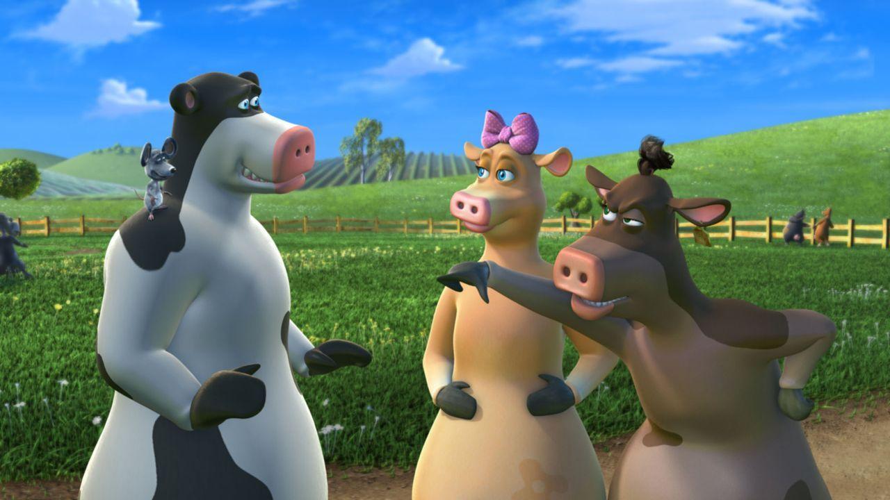 Da hat der kleine Otis (l.) mal wieder ein wenig übertrieben: Nicht alle Tiere auf dem Hof, finden seine Späßchen so komisch wie er selbst ... - Bildquelle: Paramount Pictures