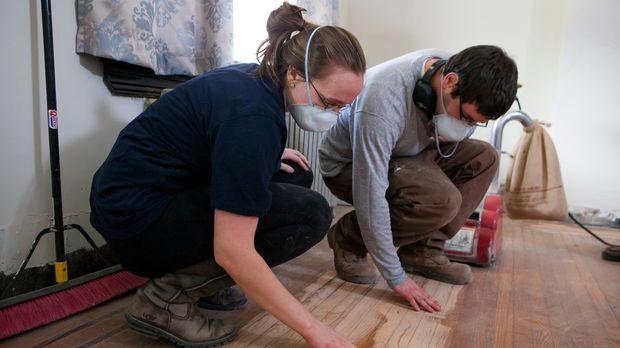 Abby (l.) und Matt (r.) sind hoch motiviert und guter Dinge, als sie sich übe...
